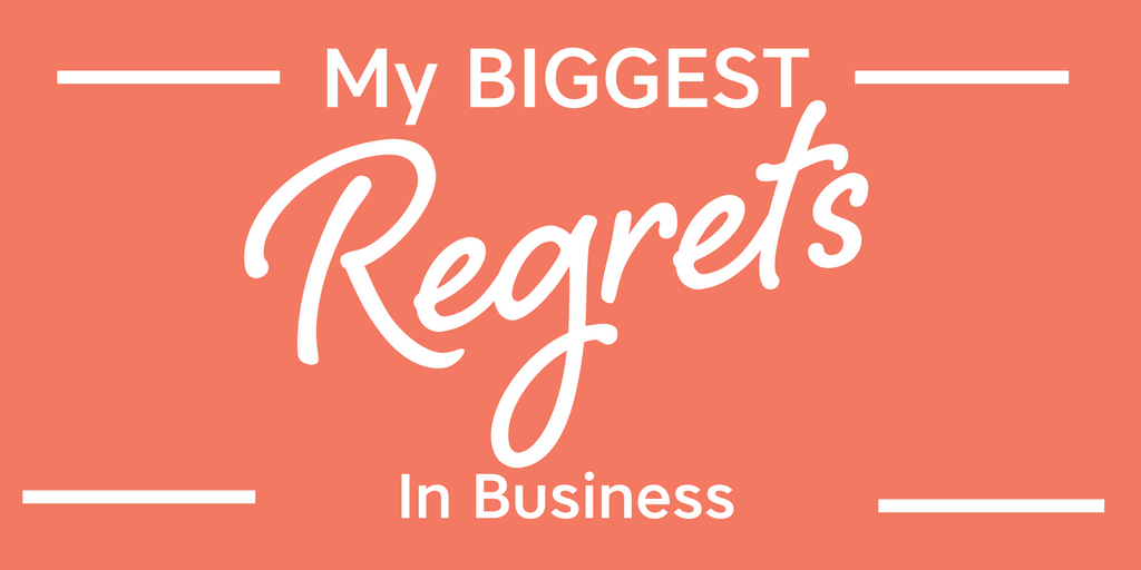 My biggest regrets in business have nothing to do with clients, money, or marketing...but it sure does affect all of that. It's not what you think either!
