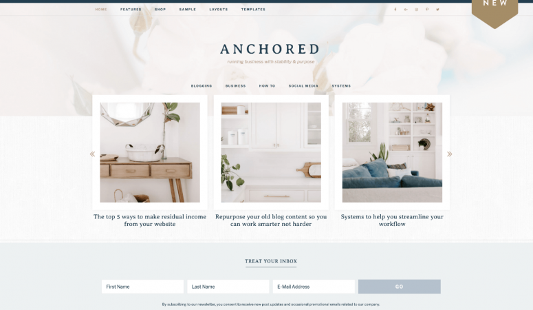 Anchored Theme Review – Restored 316 Themes